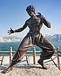 HONG KONG, CHINA - FEBRUARY 21: Bruce Lee Statue At The Avenue Of Stars On February, 21, 2013, Hong Kong, China