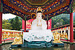 Statues HONG KONG, CHINA - MARCH 19: Ten Thousand Buddhas Monastery In Sha Tin In Hong Kong On March, 19, 2013, Hong Kong, China. Its One Of The Most Popular Tourist Destination In Hong Kong stock photography