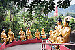 HONG KONG, CHINA - MARCH 19: Ten Thousand Buddhas Monastery In Sha Tin In Hong Kong On March, 19, 2013, Hong Kong, China. Its One Of The Most Popular Tourist Destination In Hong Kong stock photo