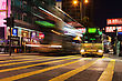 HONG KONG - FEBRUARY 21: Public Transport On The Street On February 21, 2013 In Hong Kong. Over 90% Daily Travelers Use Public Transport. Its The Highest Rank In The World stock image