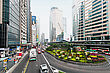 HONG KONG - February 21: Traffic Jam On One The Highways On February 21, 2013 In Hong Kong. Most Of The Vehicles On Hong Kong's Streets Are Taxis stock image