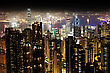 HONG KONG - FEBRUARY 22: Cityscape Of Hong Kong Island From Victoria Peak On February, 22, 2013. The Victoria Harbour Is World-famous For Its Stunning Panoramic Night View And Skyline