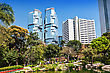 Cityscape HONG KONG - FEBRUARY 22:Hong Kong Park On February 22, 2013 In Hong Kong. Its An Example Of Modern Design And Facilities Blending With Natural Landscape stock photography