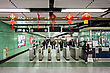 HONG KONG - FEBRUARY 22: Subway Station Interior On FEBRUARY 22, 2012 In Hong Kong. Over 90% Daily Travelers Use Public Transport. Its The Highest Rank In The World stock photo