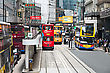 HONG KONG - MARCH 19: Public Transport On The Street On March 19, 2013 In Hong Kong. Over 90% Daily Travelers Use Public Transport. Its The Highest Rank In The World