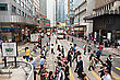 HONG KONG - MARCH 19: Public Transport On The Street On March 19, 2013 In Hong Kong. Over 90% Daily Travelers Use Public Transport. Its The Highest Rank In The World stock photography