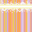 Horizontal Stripe With White Flowers At The Multi-colored Striped Background stock illustration