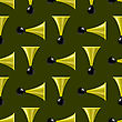 Horns Isolated On Dark Background. Musical Seamless Pattern