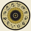 Horoscope Circle. Zodiac Stars Sign. Vector Illustration