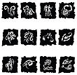 Horoscope. Twelve Symbols Of The Zodiac Signs stock illustration