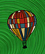 Hot Air Balloon, Hand Draw Sketch stock illustration