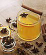 Hot Apple Cider With Spices stock image