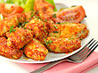 Hot Chicken Wings With Salad stock image