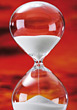 Hourglass - Running out of time stock photo