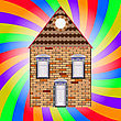 House And Colored Background stock illustration