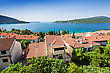 Houses Near The Sea In Herceg Novi, Montenegro stock photography
