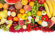 Huge Group Of Fresh Vegetables And Fruits stock photo