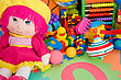Huge Pile Of Various Colorful Children's Toys stock photo