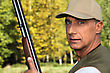 Hunter With A Shotgun stock photography