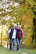 Husband And Wife In Park stock photography