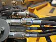 Hydraulic Connectors. Agricultural Machinery stock image