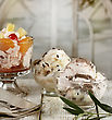 Ice Cream And Fruit Desserts stock photo