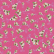 Ice Cream Seamless Pattern On Pink Background