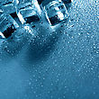 Ice With Water Droplets Over Abstract Wet Background stock photo