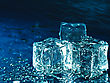 Iced Water Against Abstract Blue Backgrounds For Your Design stock photography