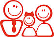 Icon Of Happy Family For Design