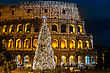 Iconic, The Legendary Coliseum Of Rome, Italy On Christmas