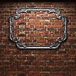 Illuminated Brick Wall And Frame Made In 3D