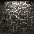 Illuminated Stone Wall Made In 3D Graphics stock image