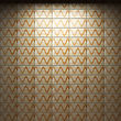 Illuminated Tile Wall Made In 3D Graphics