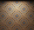 Illuminated Tile Wall Made In 3D Graphics stock image