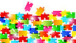 Illustration Abstract Background Made From Colorful Puzzle Pieces - Vector
