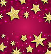 Illustration Abstract Background Made Of Golden Stars. Copy Space For Your Text - Vector