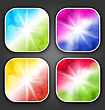 Illustration Abstract Backgrounds With For The App Icons - Vector