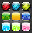 Illustration Abstract Backgrounds For The App Icons - Vector