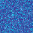 Illustration With Abstract Blue Background. Graphic Design Useful For Your Design. Blue Polygonal Texture