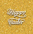 Illustration Abstract Easter Card With Hand Written Phrase. Greeting Card Templates With Easter Text. Happy Easter Lettering - Vector