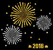 Illustration Abstract Festive Firework With Golden And Silver Surface For Happy New Year - Vector