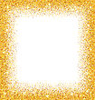 Illustration Abstract Golden Frame With Sparkles On White Background. Gold Glitter Dust. Trendy Modern Template - Vector