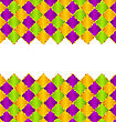 Illustration Abstract Pattern For Mardi Gras Wirh Green, Purple, Yellow Colors - Vector