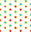 Illustration Abstract Seamless Texture With Colorful Objects, Elegance Kid Pattern - Vector