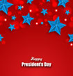 Illustration Abstract Stars Background For Happy Presidents Day Of USA - Vector stock illustration