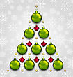 Illustration Abstract Tree Made Of Christmas Taditional Elements - Vector