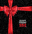 Illustration Advertising Background With Bow Ribbon For Black Friday Sales - Vector