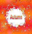 Illustration Autumn Grunge Background, Abstract Decorative Frame - Vector