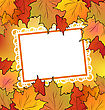Autumn Maple Leaves With Floral Greeting Card stock illustration